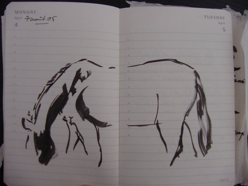 draw horse. Attempt to draw horse in
