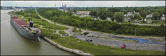 East Toledo (North of the High Level) (O Caritas) Tags: ohio panorama water composite river dock ship shoreline toledo shore eastside freighter frontstreet maumeeriver nikoncoolpix8800 easttoledo willissboyer internationalpark autopanopro dscn2591 dscn2588 dscn2589 dscn2590 dscn2587