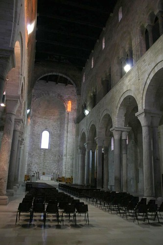Very simple interior of Trani Cathedral