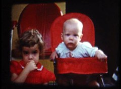 Beth and Larry - 1958 (Katie M) Tags: red 8mmfilm homemovies beth larry 50s
