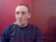 Me, blurry, in Retro (OwenBlacker) Tags: cameraphone london me moblog phonecam nokia6600 llundain retrobar owenblacker
