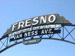 Fresno Arch on Van Ness Avenue