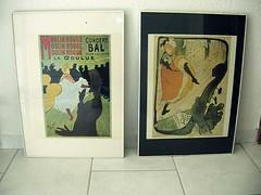 2 Toulouse Lautrec Lithos in Wechselrahmen (zipfel & frogi) Tags: liquidation birmensdorferstrasse199 hausrat bilder frame rahmen bilderrahmen toulouselautrec