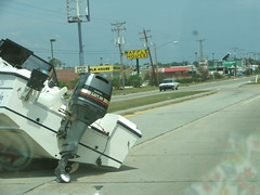 Hey, look! A Waffle House! (G. J. Charlet III) Tags: hurricane hurricanekatrina mississippi baystlouis waveland kiln