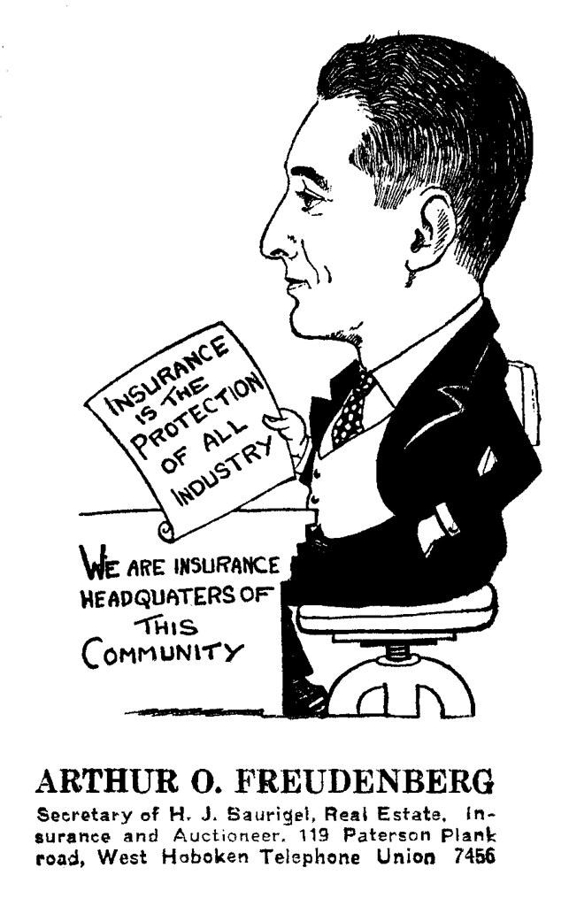 Arthur Oscar Freudenberg (1891-1968) caricature