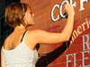 Sign Painter 2 A young woman