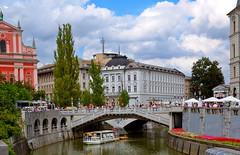 Ljubljana Three bridges