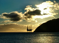 Caught in the morning sun (ccgd) Tags: cromarty highlands oilrig scotland sunrise sutor