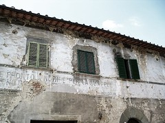 Vooroorlogs. (garfan) Tags: chianti toscane italie mussolini giunchete scrittamurale wallslogan