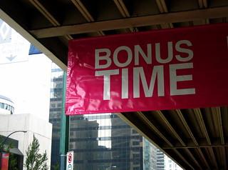 Bonus time.