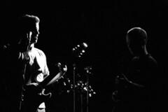 Frohman @ Billiard Club 14 (Rainman662) Tags: 35mm dark lights guitar stage band pentaxk1000 mic barker smitty fujineopan1600 frohman billiardclub