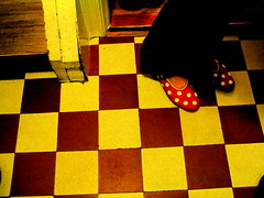 floor (sara vilbergs) Tags: red yellow top20favorites shoes pattern floor 100v10f dots topphotoblog