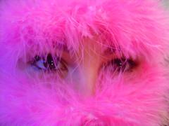 Poser eyes (Renata Diem) Tags: pink woman girl poser eyes mulher magenta rosa olhos pluma menina 1on1photooftheweek 1on1photooftheweekjuly2007