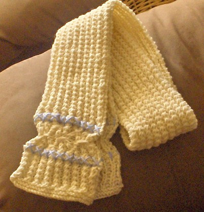 crossed stitch scarf