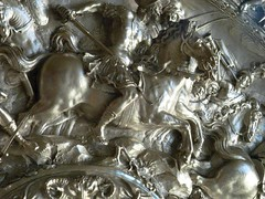 Silver basin with scenes from the life of Cleopatra Italian 1620 Strozzi 1 (mharrsch) Tags: silver italian dish bowl basin reception gettymuseum cleopatra strozzi ptolemaic 17thcenturyce