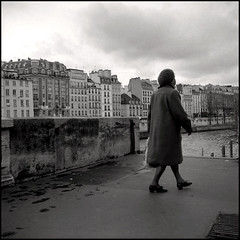 (pixietart) Tags: windows urban bw paris france film nycpb lady clouds buildings square french landscape seagull ps ladyback