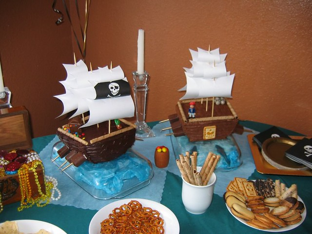 Oskar's First Birthday - Pirate Ship Cake