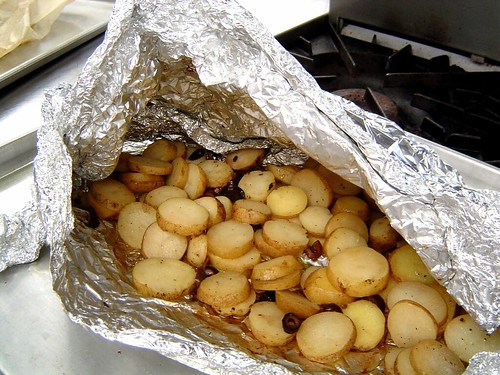 steam-roasted potatoes