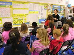 Math Meeting Board and Lesson (Old Shoe Woman) Tags: usa georgia southgeorgia dilosep05 school classroom students math saxonmath university practicum dilosept05