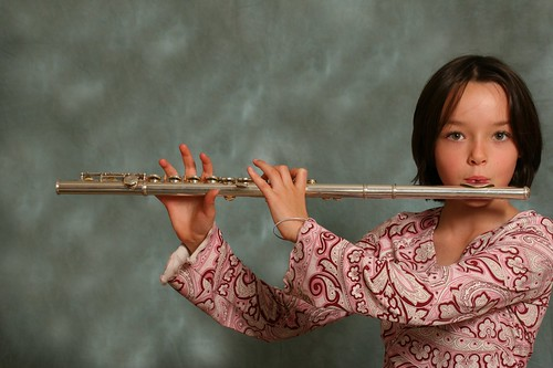 Katie and her flute