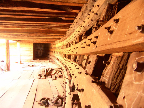 Inside A Wooden Ship Under Construction At Mandvi Port