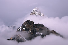 Islands in the Clouds (Kelly Cheng) Tags: pakistan mountain cafe quality concordia getty provia trekday7concordia gettysale 89996106 pickbykc gi0911