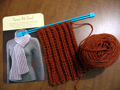 Ribbed Scarf Pattern. Farrow Rib Scarf - Beginnings