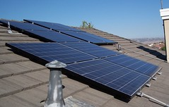 Solar cells on top of roof
