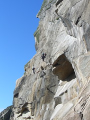 climbers on lundy (squeezemonkey) Tags: lundy island climbers cliff