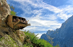 Welcome to the Eagle's nest (majamarko) Tags: travel mountains top20favorites colorful europe interestingness1 most slovenia valley eaglesnest slovenija canons1 f5 logarska 1250s gnezdo logarskadolina orlovognezdo majamarko dailyvip 38mm35mmequiv