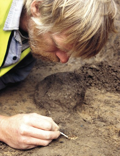 Image of archaeologist at Wessex University
