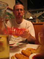 Would you like some more cheese balls??? (visioncity) Tags: man dinner fun illinois cool peoria cheeseballs wasniowski visioncity