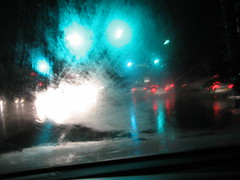 Not icy, just wet (Saffanna) Tags: wet rain night lights newjersey driving saffanna burlingtoncounty rt38 itsmypartyofone