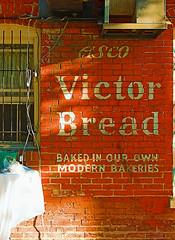 made for each other #2... (bruce grant) Tags: signs philadelphia advertising bread typography bars restaurants wires walls manayunk osfios airconditioners cad roxborough shurslane