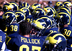 The Famous Winged Helmet (Andrew Morrell Photography) Tags: stadium michiganwolverines pennstate bighouse football annarbor michiganstadium collegefootball