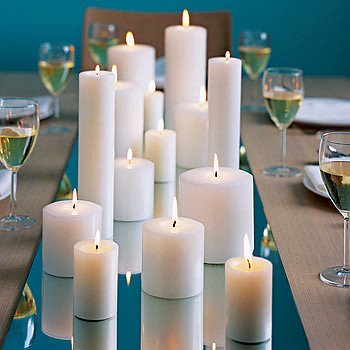 Wedding Candle Centerpiece Photo Courtesy of wedding candle decor on Flickr