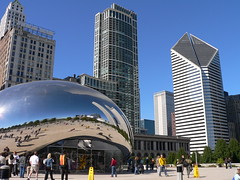 Cloud Gate and City View