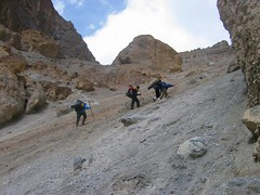 Fall on the Scree (Ahmad A Karim) Tags: pakistan karakoram theadventuringelf