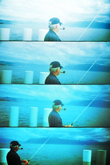 (-Antoine-) Tags: 2005 blue lake switzerland lomo fishing supersampler suisse geneva pipe lac quay lausanne bleu fisher svizzera leman lman pcheur pecheur quai pche ceciestunepipe antoinerouleau