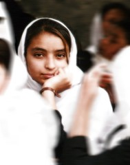 thoughtful (janchan) Tags: school portrait people woman afghanistan girl face kids student women asia classroom retrato documentary donne unposed mujeres ritratto velo kabul reportage saarc blackribbonicon thetaleofaurezu whitetaraproductions