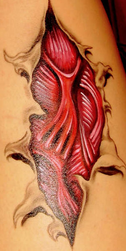 close resemblance to a real tattoo... but made with make up colors.<br />Temporary tattoo is easy to remove