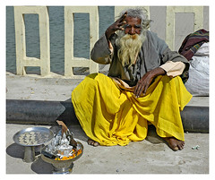Holy blessings (lapidim) Tags: india topf25 yellow topv111 topv333 coins quality fingers beggar ganges haridwar 100v10fv charitycompetition gtaggroup goddaym1