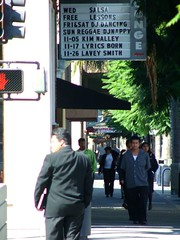 SoFA, October 23, 2005 (/\/\ichael Patric|{) Tags: 2005 california street city people urban man sign northerncalifornia buildings geotagged marquee october downtown afternoon october2005 sanjose sunny sidewalk entertainment telephoto sanfranciscobayarea sj bayarea intersection sfbayarea sanjosé southbay westcoast downtownsanjose santaclaracounty santaclaravalley centralsanjose michaelpatrick sanjosecalifornia santaclaracountycalifornia address:continent=northamerica address:country=unitedstatesofamerica address:state=california address:city=sanjose geo:lat=37329735 geo:lon=1218859