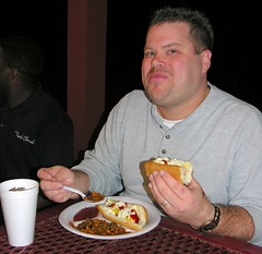 Delicious Hotdogs and Baked Beans - by Old Shoe Woman