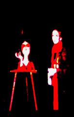 the demon painting 2 (HibouBuee) Tags: senior play theatre performance paint charred pig flesh li
