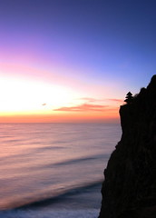 bukit Uluwatu (Farl) Tags: sunset colors dusk uluwatu bukit cliff surf surfing temple pura religion hindu faith backlight jimbaran bali indonesia tradition