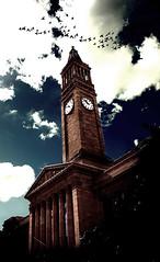 Infinite (Mark Lobo .) Tags: city blue sky cloud bird birds dark square photography hall george king cityhall mark infinity australia brisbane lobo crow raven cluds kinggeorge kinggeorgesquare marklobo wwwmarklobocomau