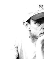 Dave BW (Miss Stella) Tags: masterclass05negativespaceportraits dave photoshop blackwhite mc05negativespace