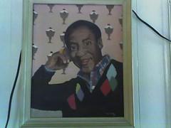 Cosby   Ice cream wallpaper = kitsch heaven (your pal Matt) Tags: cosby billcosby jerseycity kitsch