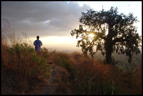 Mesfin on Mount of Olives, Lalibela